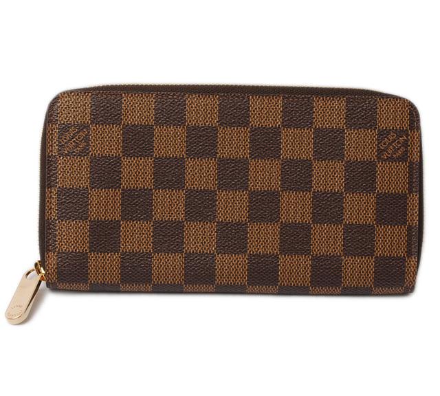 ルイヴィトン 財布 LOUIS VUITTON 長財布/ジッピー・ウォレット N60015 ラウンドファスナー式 ダミエ