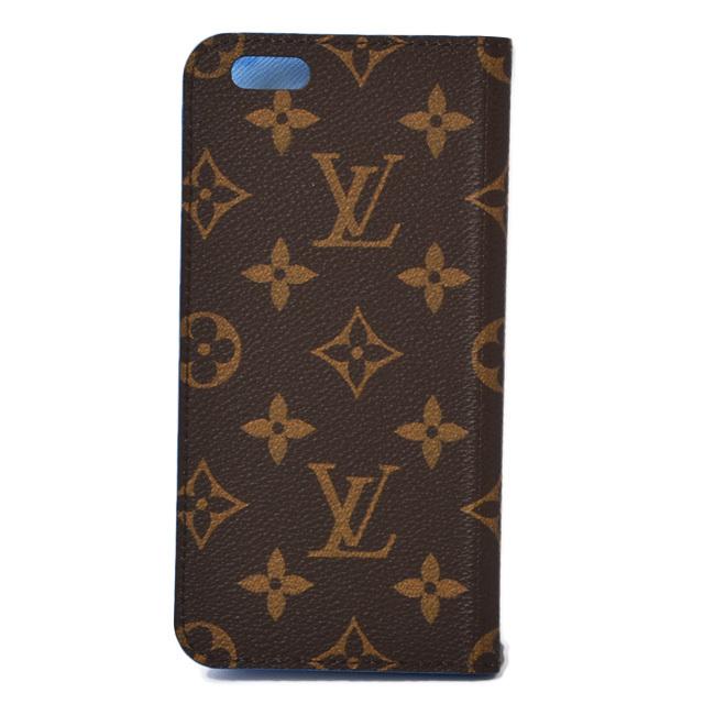 ルイヴィトン iphone6 plusケース/6s plusケース 手帳型 LOUIS VUITTON iphone6+/プラス フォリオ モノグラム/ブルー N61632