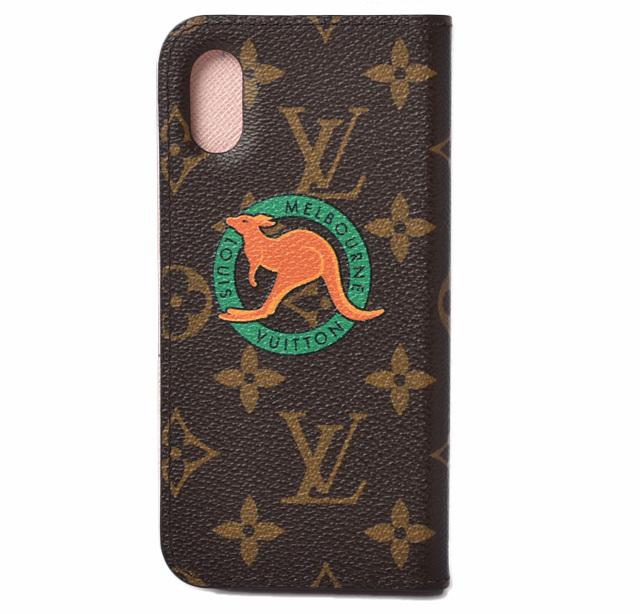 ルイヴィトン iPhone Xケース/iPhone カバー LOUIS VUITTON iPhone X フォリオ モノグラム M63443 限定スタンプ【中古】
