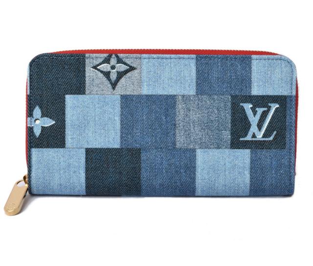 ルイヴィトン 財布 モノグラム LOUIS VUITTON 長財布/ジッピー・ウォレット M44938 デニム・モノグラム