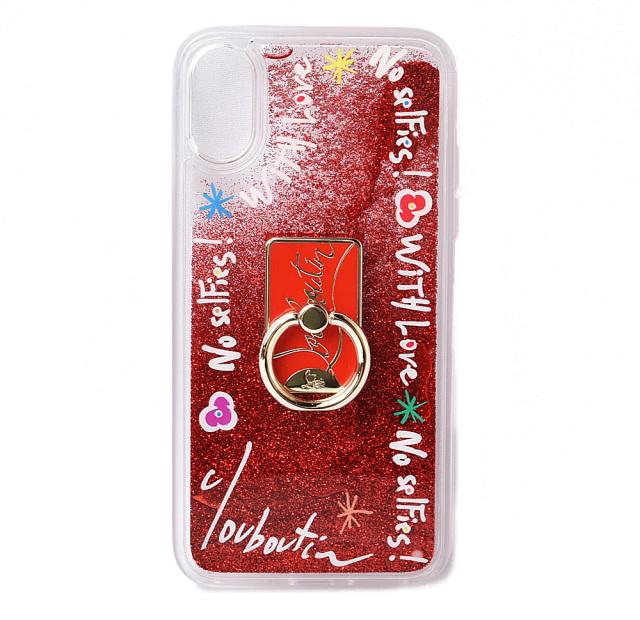 クリスチャンルブタン iPhoneXケース/iPhoneXsケース Christian louboutin レッドマルチ 1205176 Case Iphone アイフォンX/Xs