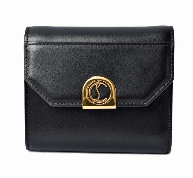 クリスチャンルブタン 財布 Christian louboutin 折財布/Elisa Compact Wallet BLACK/ブラック 1205214