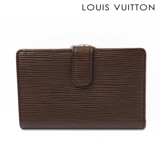 LOUIS VUITTON ルイ ヴィトン エピ 2折がま口財布(ポルトフォイユ・ヴィエノワ) モカ M63650 (旧モデル)【中古】【送料無料】