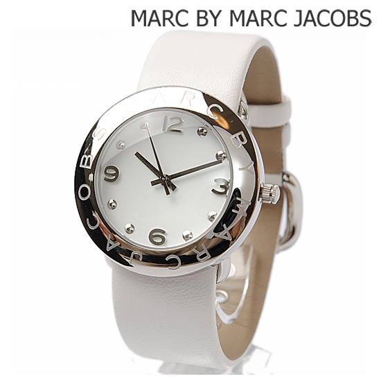 MARC BY MARC JACOBS マークバイマークジェイコブス レディース腕時計 SS/レザー ホワイト×シルバー MBM1136 新品 送料無料