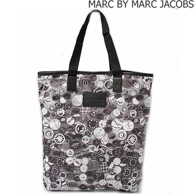 マークバイマークジェイコブス ショッピングバッグ/エコバッグ MARC BY MARC JACOBS M0003707 ブラック/ホワイト
