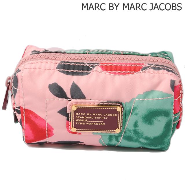 マークバイマークジェイコブス MARC BY MARC JACOBS コスメポーチ/ミニポーチ ロゴ DESERT ROSE MULTI/ローズ M0005511