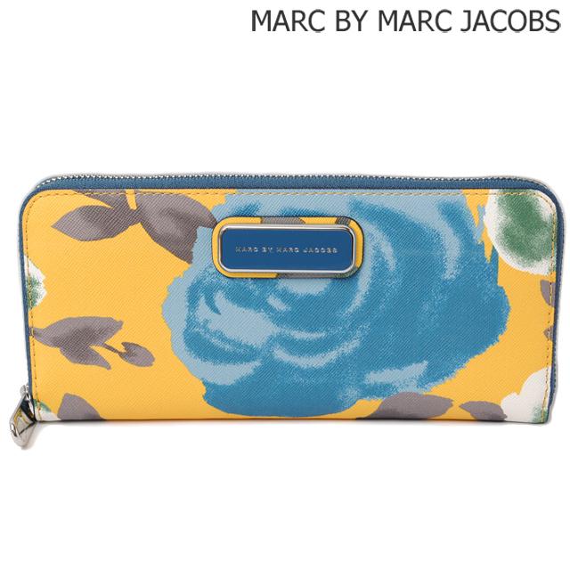 マークバイマークジェイコブス MARC BY MARC JACOBS 長財布/ スリムジップアラウンド M0005350 DEEP BLUE MULTI/ブルー イエロー