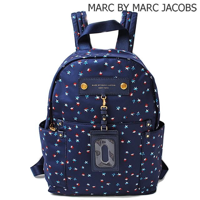 マークバイマークジェイコブス MARC BY MARC JACOBS リュックサック/バックパック IDホルダー付 BLUE DEPTHS MULTI/ブルー M0005546