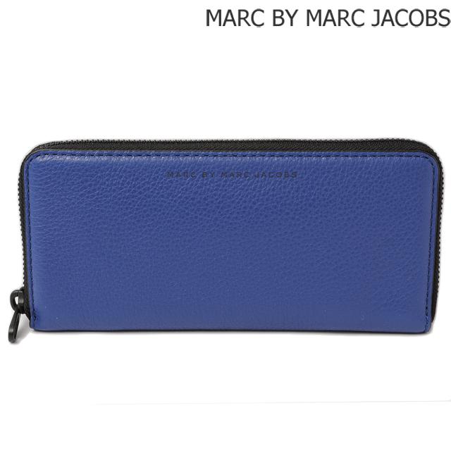 マークバイマークジェイコブス MARC BY MARC JACOBS 長財布/スリムジップ MINERAL BLUE/ブルー M0003198