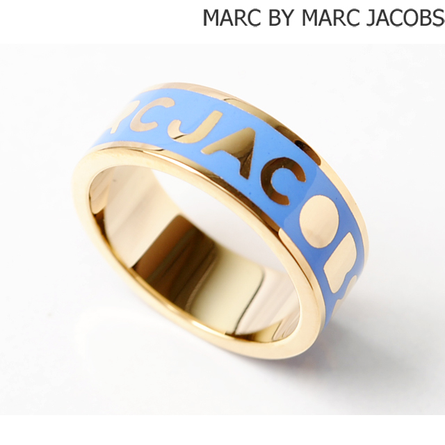 マークバイマークジェイコブス MARC BY MARC JACOBS リング/指輪 クラッシクマーク ロゴ CONCH BLUE/ブルー M0003560