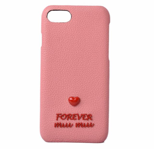 ミュウミュウ iPhone8ケース/iPhone7ケース/6/6S miumiu 5ZH035 MADRAS/マドラス FOREVER ROSA/ローズ