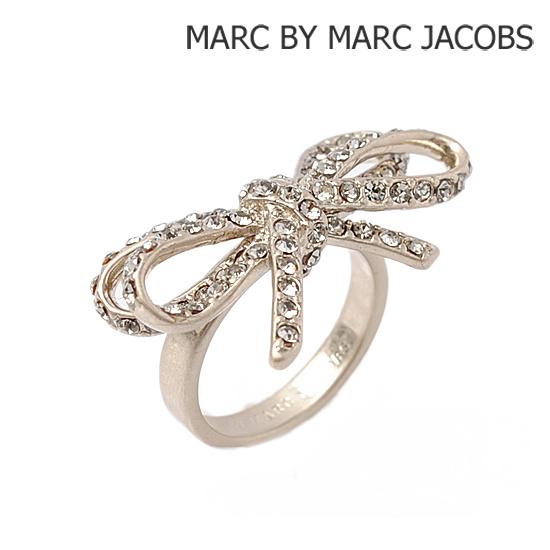MARC BY MARC JACOBS(マークバイマークジェイコブス) アクセサリー リング(指輪) ビアンカ リボン シルバー/ブラック M5111044
