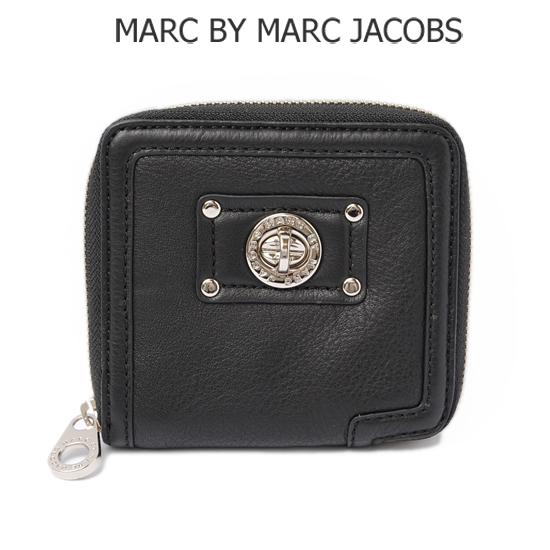 MARC BY MARC JACOBS(マークバイマークジェイコブス)札入れ/折財布 レザー/ブラック M383404【新品】【送料無料】