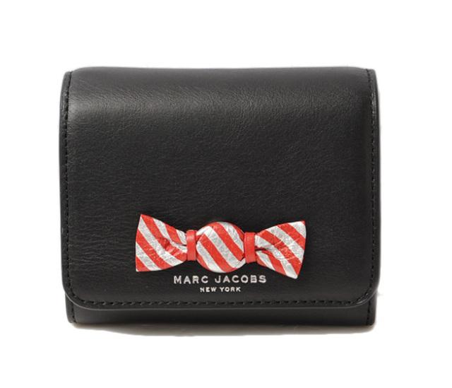 マークジェイコブス 財布 MARC JACOBS 3折財布/ボウ ビルフォールド ブラック M0008122