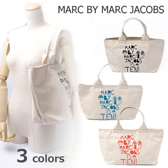 MARC BY MARC JACOBS(マークバイマークジェイコブス)10周年記念限定 トートバッグ キャンバス/ナチュラル M3111234