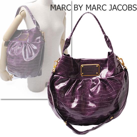 MARC BY MARC JACOBS(マークバイマークジェイコブス)バルーン型ショルダーバッグ クロコ調/プルーン(PRUNE) M393190 新品
