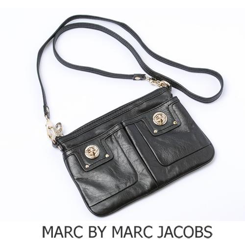MARC BY MARC JACOBS(マークバイマークジェイコブス)ターンロック付 ショルダーポシェット ブラック  M301202 新品