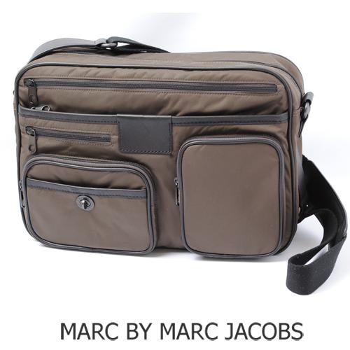 MARC BY MARC JACOBS(マークバイマークジェイコブス)メンズライン メッセンジャーバッグ(DANNY BOY) ダークブラウン M401020 新品
