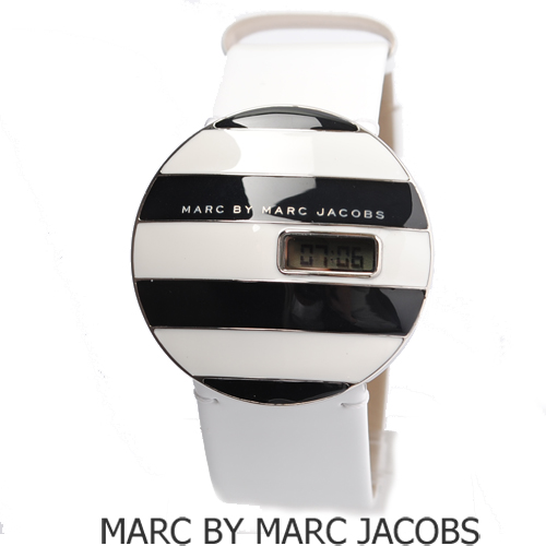 【セール★15%OFF】MARC BY MARC JACOBS(マークバイマークジェイコブス) ユニセックス腕時計 ホワイト×ブラック MBM2038 新品