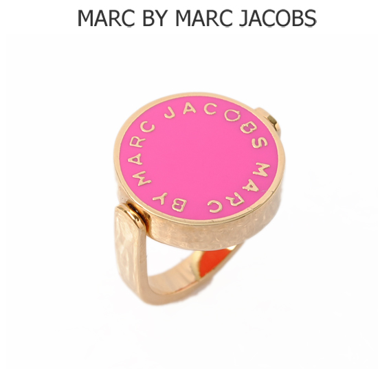 MARC BY MARC JACOBS(マークバイマークジェイコブス) アクセサリー スピン リング(指輪) ロゴ/ピンク(ROSA RUGOSA) M5111012