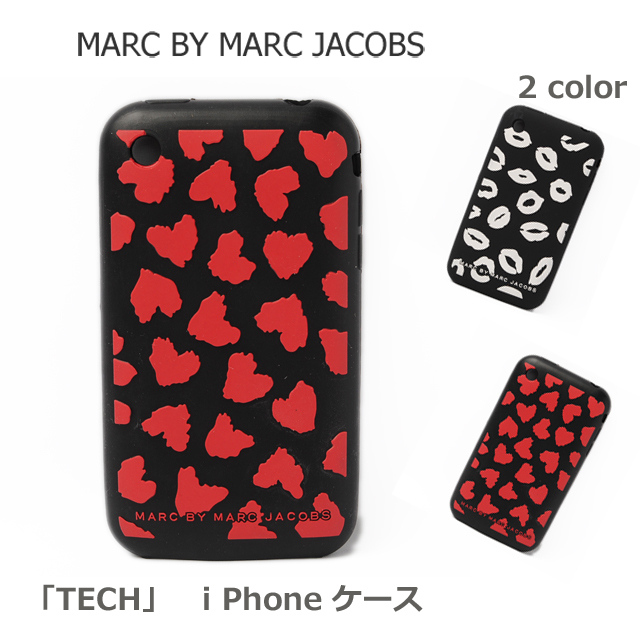 MARC BY MARC JACOBS(マークバイマークジェイコブス) 「TECH」  iPhoneケース 3G対応 ブラック/モチーフ 【新品】【送料無料】