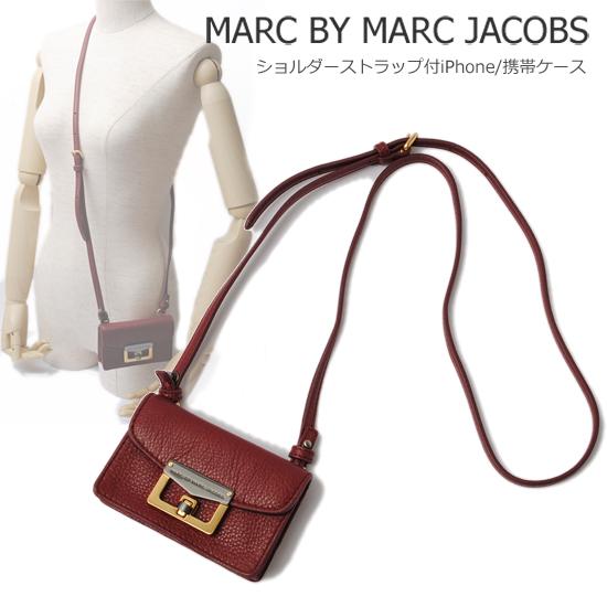 MARC BY MARC JACOBS マークバイマークジェイコブス ストラップ付 iPhoneケース/携帯ケース ワイン(CHIANTI) M3112476