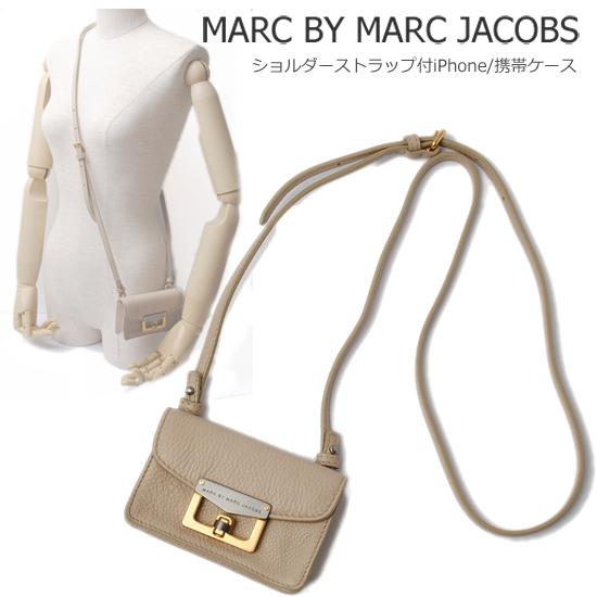 MARC BY MARC JACOBS マークバイマークジェイコブス ストラップ付 iPhoneケース/携帯ケース ストーン(STONE) M3112476