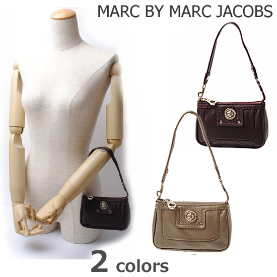 MARC BY MARC JACOBS(マークバイマークジェイコブス)ターンロック ストラップ付 アクセサリーポーチ M382417