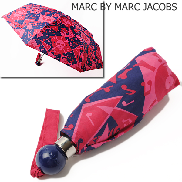 MARC BY MARC JACOBS マークバイマークジェイコブス アンブレラ/折りたたみ傘  スカルモチーフ  M8131240 新品 送料無料