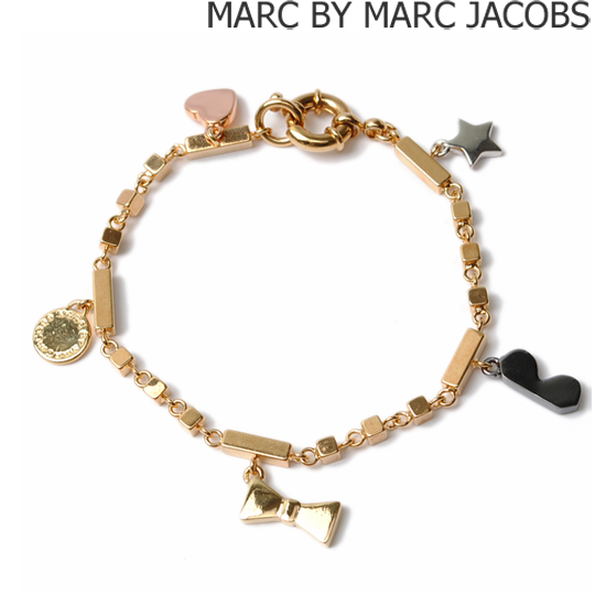 MARC BY MARC JACOBS(マークバイマークジェイコブス)ブレスレット MIXED CHARM ゴールド(ORO MULTI) M5121040【新品】【送料無料】