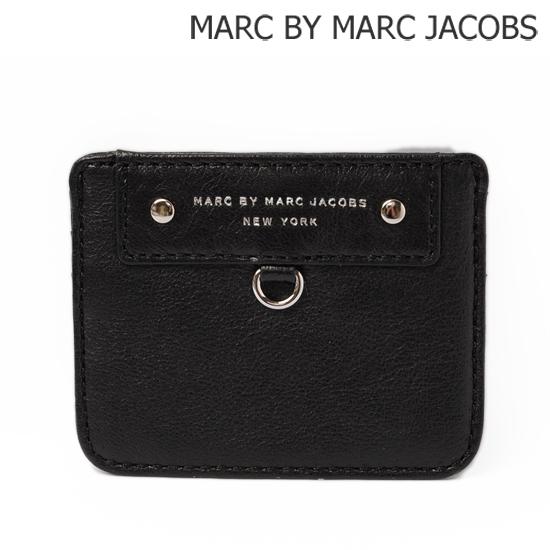 MARC BY MARC JACOBS(マークバイマークジェイコブス) カードケース PREPPY ラムレザー/ブラック M3121402【新品】【送料無料】