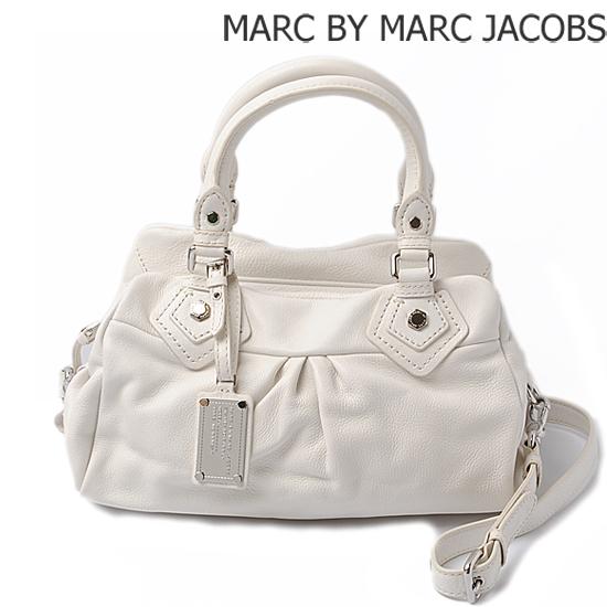 MARC BY MARC JACOBS(マークバイマークジェイコブス) 2wayミニボストンバッグ ホワイト(SUGAR)M3121053【新品】【送料無料】