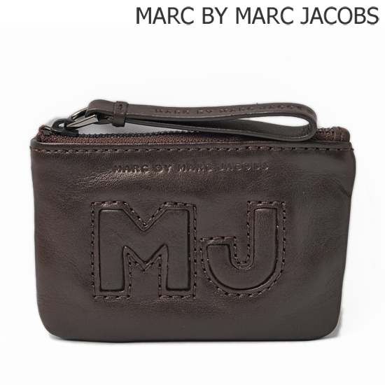 MARC BY MARC JACOBS マークバイマークジェイコブス キーリング付小物入れ BIG JAC/チョコレート M4122407【新品】【送料無料】