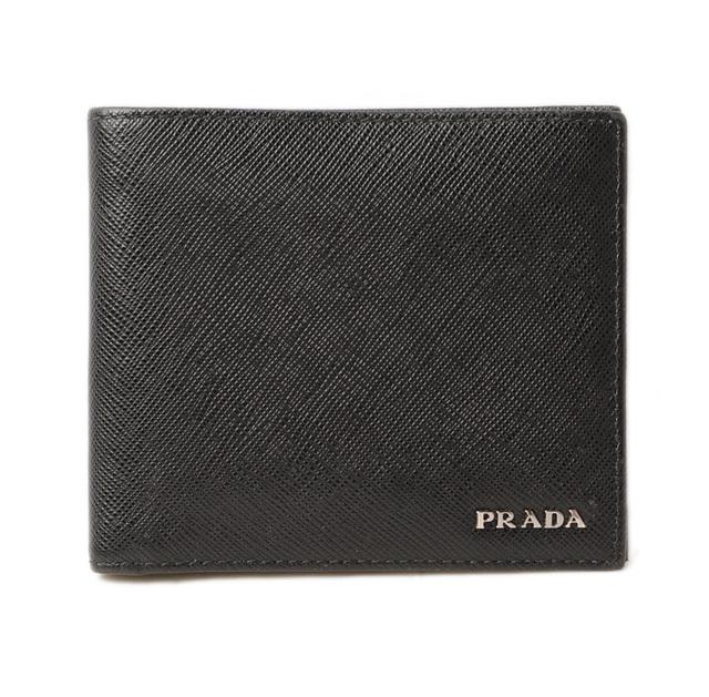 プラダ PRADA 折財布/札入れ 2M0513 メンズ向け SAFFIANO/サフィアノ ブラック/カーキ