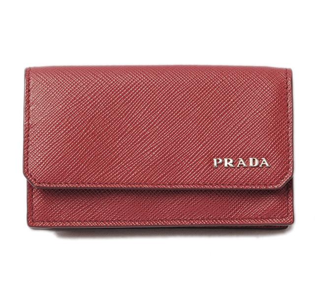 プラダ カードケース/名刺入れ PRADA 2MC122 SAFFIANO CORNER/型押しレザー RUBINO/ルビー