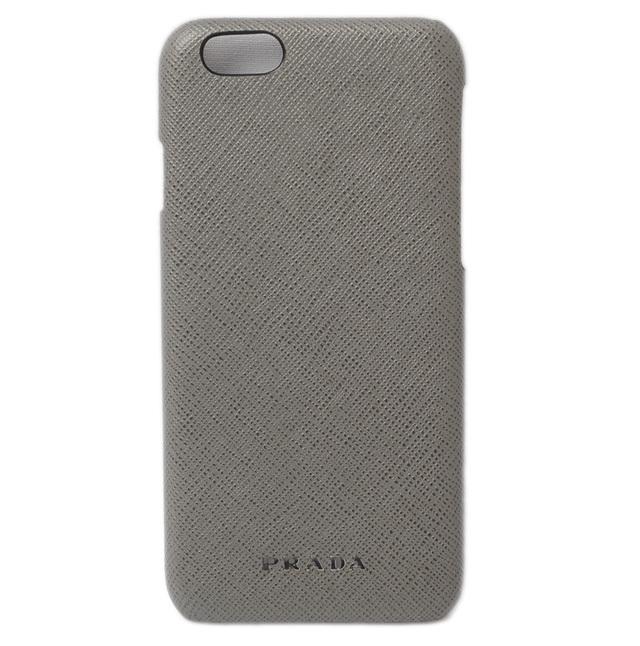 プラダ iPhone 6 ケース/6sケース PRADA 2ZH008 SAFFIANO TRAVEL/型押しレザー ライトグレー