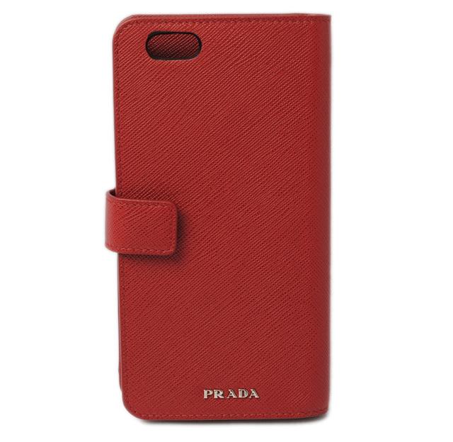 プラダ iPhone 6 plusケース/6s plusケース/手帳型 2ZH006 SAFFIANO TRAVEL/型押しレザー FUOCO/レッド