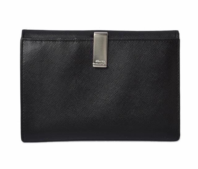 プラダ 財布 メンズ PRADA 折財布 SAFFIANO/サフィアノ NERO/ブラック 未使用 アウトレット