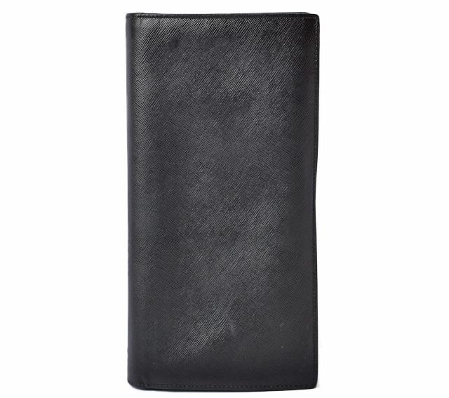 プラダ 財布 メンズ PRADA 長財布 1M1302 SAFFIANO/型押しレザー NERO/ブラック