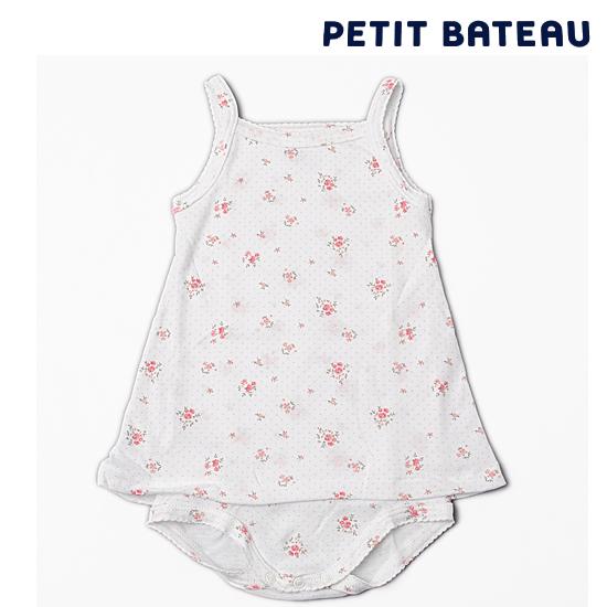 【出産祝いにも☆】PETIT BATEAU プチバトー アンダーウェア ベビー女の子 小花プリント キャミソール ボディドレス 【新品】