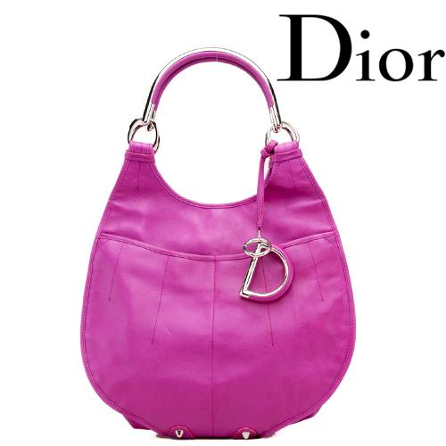 Christian Dior(クリスチャン・ディオール) ショルダーバッグ キーリング付 レザー/ピンクパープル 【中古】【送料無料】
