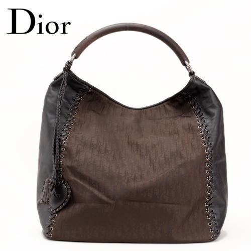 Christian Dior(クリスチャン・ディオール) ショルダーバッグ ディオリッシモ/ブラウン 【中古】【送料無料】