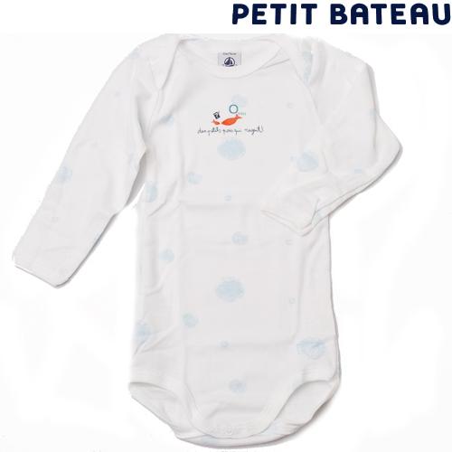 【出産祝いにも☆】プチバトー PETIT BATEAU ベビー アンダーウェア 男の子 さかなプリント 長袖ボディ 新品