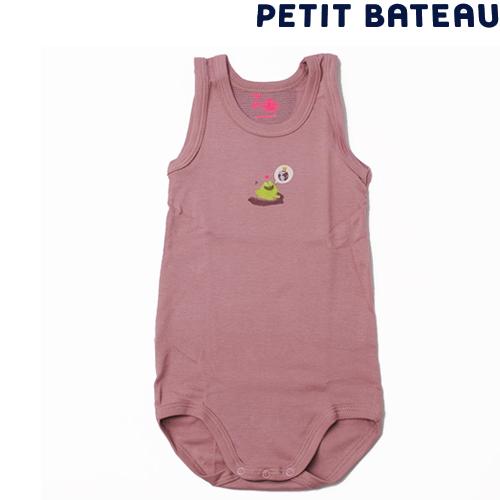 【出産祝いにも☆】プチバトー PETIT BATEAU ベビー 女の子 アンダーウェア Bioカエルプリント半袖ボディ 新品