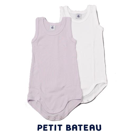 【出産祝いにも☆】プチバトー PETIT BATEAU アンダーウェア ランニングボディ 2枚組セット