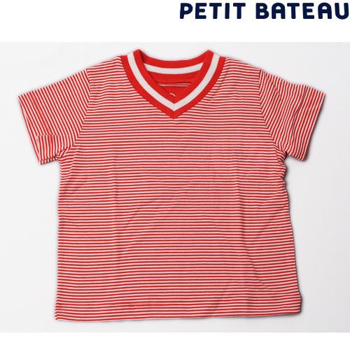 【出産祝いにも☆】プチバトー PETIT BATEAU ベビー 半袖Tシャツ V字 半袖Tシャツ ボーダー柄 新品
