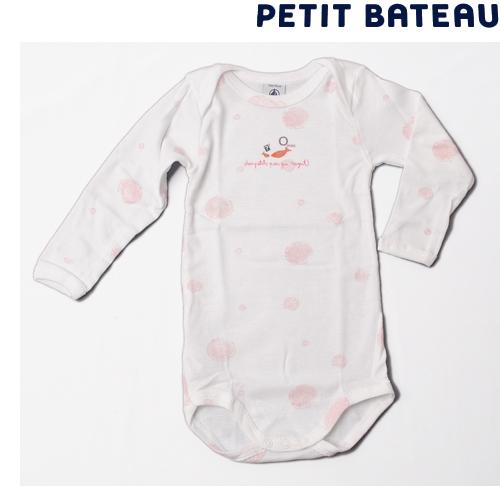 【出産祝いにも☆】プチバトー PETIT BATEAU ベビー 女の子 さかなプリント 長袖ボディ 新品