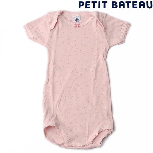 【出産祝いにも☆】プチバトー PETIT BATEAU アンダーウェア ベビー女の子 星プリントUSスリーブ 半袖ボディ【新品】