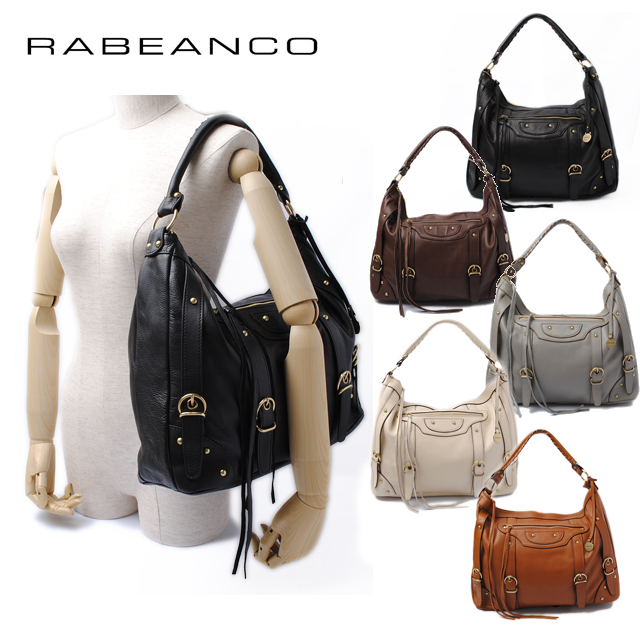 RABEANCO(ラビアンコ) メッシュハンドル エディターズバッグ ソフトレザー 134651 【新品】【送料無料】