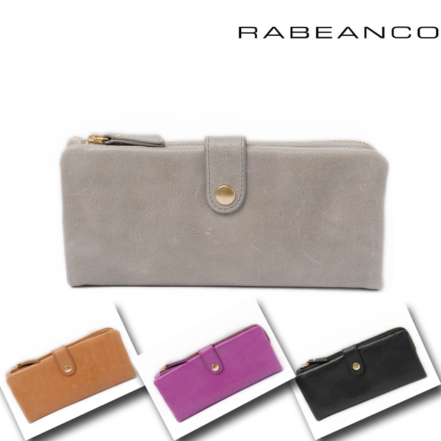 RABEANCO(ラビアンコ) ファスナー付2折長財布 ソフトレザー 202151 4色 【新品】【送料無料】